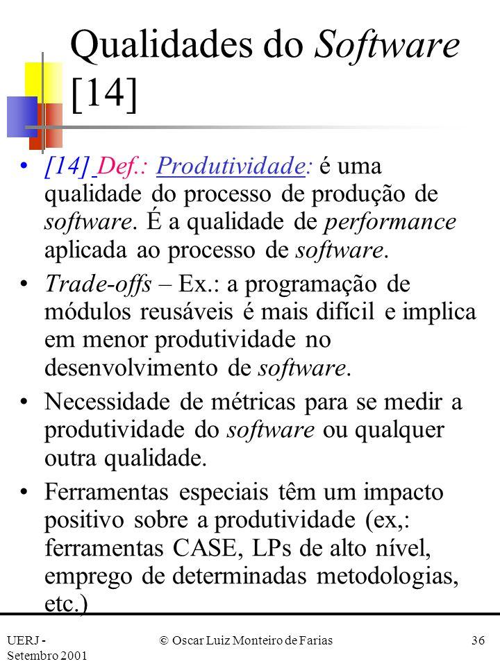 Qualidades do Software [14]